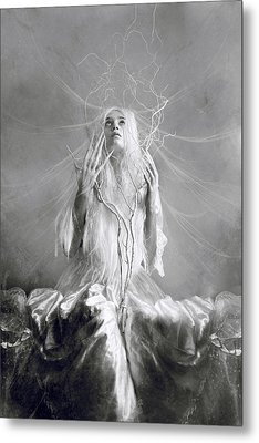 White Witch Metal Print by Cambion Art