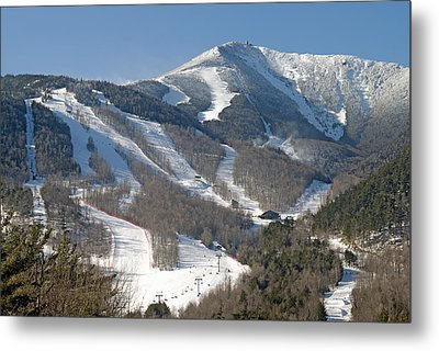Whiteface Ski Mountain In Upstate New York Near Lake Placid Metal Print by Brendan Reals