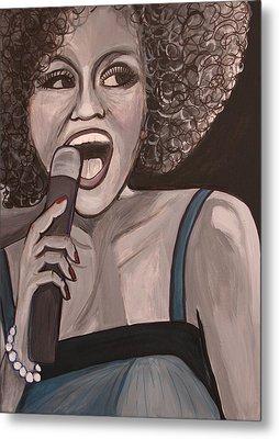 Whitney Houston Metal Print by Kate Fortin