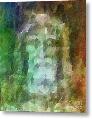 Who Do Men Say That I Am - The Shroud Metal Print by Glenn McCarthy Art and Photography