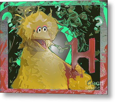 Who The Hell Is Next Metal Print by Feile Case