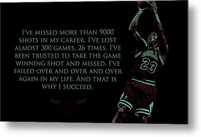 Why I Succeed Metal Print by Brian Reaves