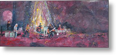 Widespread Panic Painted Live  Metal Print by David Sockrider