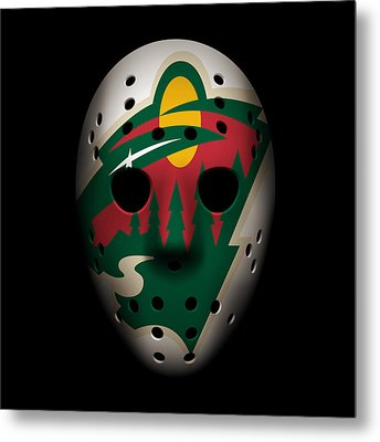 Wild Goalie Mask Metal Print by Joe Hamilton