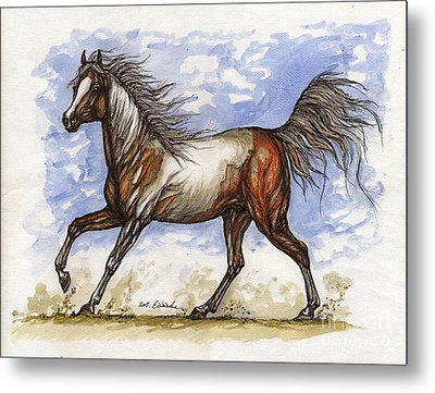 Wild Mustang Metal Print by Angel  Tarantella
