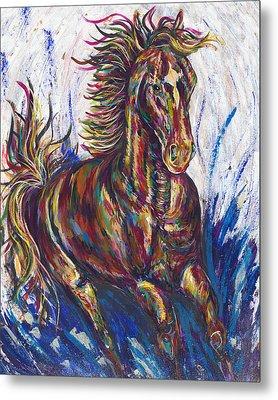 Wild Mustang Metal Print by Lovejoy Creations