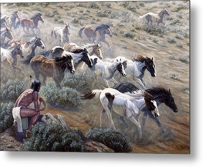 Wild Mustangs Metal Print by Gregory Perillo