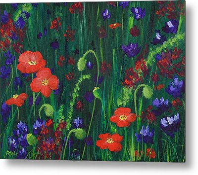 Wild Poppies Metal Print by Anastasiya Malakhova