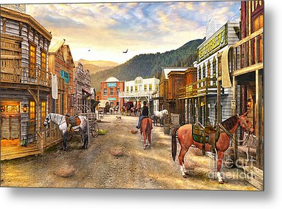 Wild West Town Metal Print by Dominic Davison