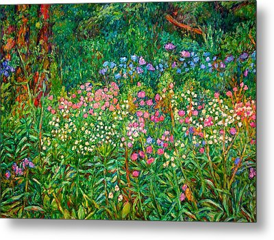 Wildflowers Near Fancy Gap Metal Print by Kendall Kessler