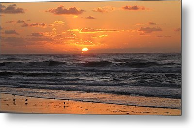Wildwood Beach Here Comes The Sun Metal Print by David Dehner