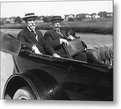 Willam Taft And Charles Hughes Metal Print by Underwood Archives