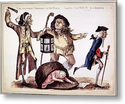 William Hunter And Body Snatching, 1773 Metal Print by National Library Of Medicine