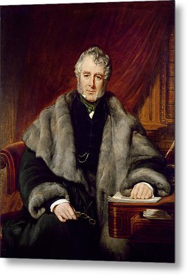 William Lamb, 2nd Viscount Melbourne, 1844 Oil On Canvas Metal Print by John Partridge
