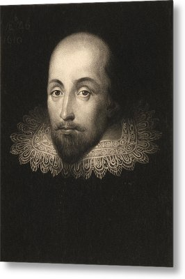 William Shakespeare  Metal Print by Cornelius Jansen