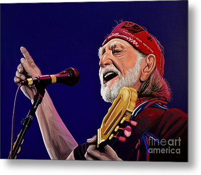 Willie Nelson Metal Print by Paul Meijering