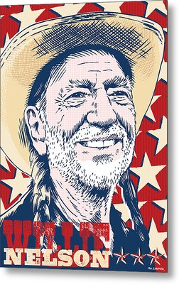 Willie Nelson Pop Art Metal Print by Jim Zahniser