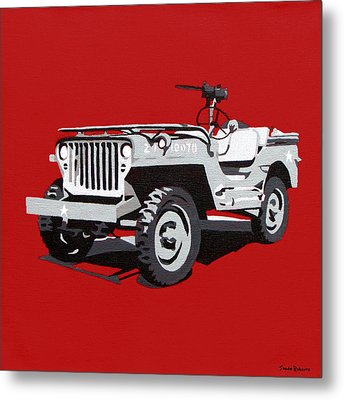 Willys Jeep Metal Print by Slade Roberts