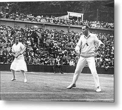 Wimbledon Championship Play Metal Print by Underwood Archives