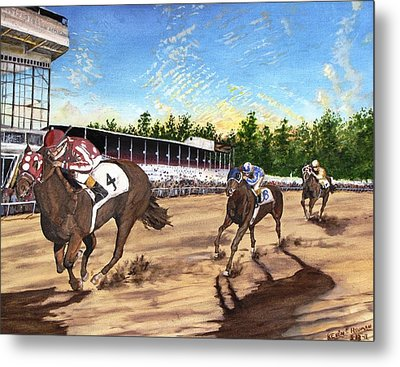 Win Place Show Metal Print by Kevin F Heuman