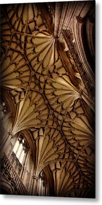 Winchester Cathedral Ceiling Metal Print by Stephen Stookey