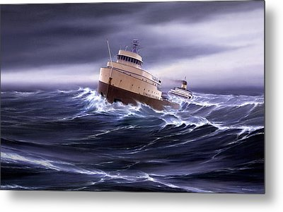 Wind And Sea Astern Metal Print by Captain Bud Robinson