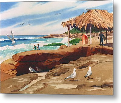 Wind 'n Sea Beach La Jolla California Metal Print by Mary Helmreich