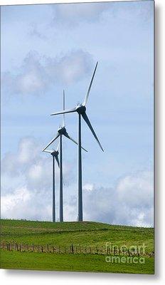 Wind Turbines Metal Print by Bernard Jaubert