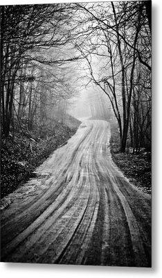 Winding Dirt Road Metal Print by Karol Livote