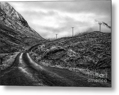 Winding Road In Glen Etive Metal Print by John Farnan
