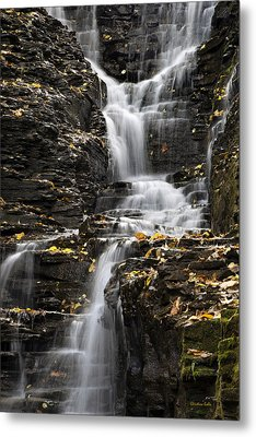 Winding Waterfall Metal Print by Christina Rollo