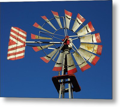 Windmill Close Up Metal Print by Kay Sparks