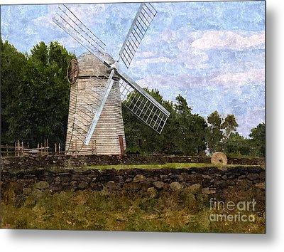 Windmill Metal Print by Diane Goulart