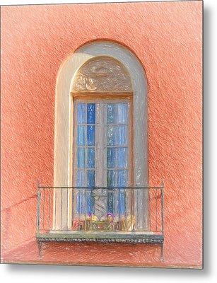 Window Reflection Metal Print by Kim Hojnacki