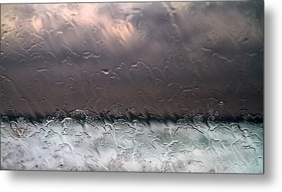 Window Sea Storm Metal Print by Stelios Kleanthous