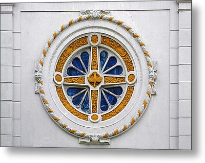 Window St Mary's Church New Orleans Metal Print by Christine Till