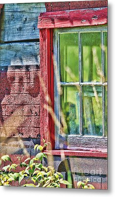 Window Story Metal Print by Cathy  Beharriell