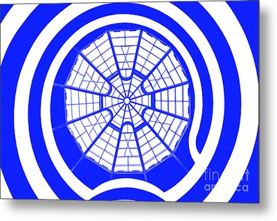 Window To Another World In Blue Metal Print by Az Jackson