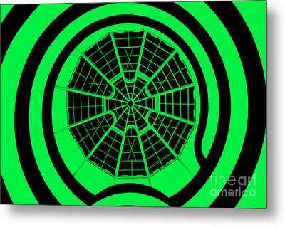 Window To Another World In Green - Black Metal Print by Az Jackson