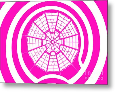 Window To Another World In Pink Metal Print by Az Jackson