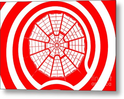 Window To Another World In Red Metal Print by Az Jackson