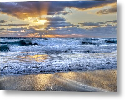 Window To Heaven Metal Print by Debra and Dave Vanderlaan