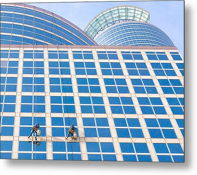 Window Washers Metal Print by Jim Hughes