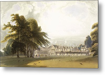Windsor Park The Royal Lodge Metal Print by William Daniell