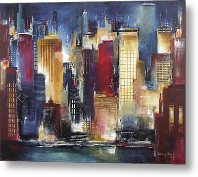 Windy City Nights Metal Print by Kathleen Patrick