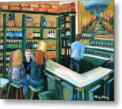 Wine Bar Rendezvous Metal Print by Mandy Stohry