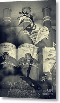 Wine - Beginning And The End Metal Print by Martin Dzurjanik