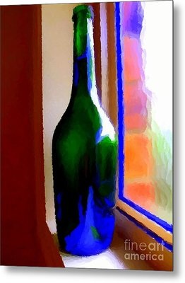 Wine Bottle Metal Print by Chris Butler