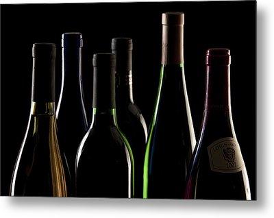 Wine Bottles Metal Print by Tom Mc Nemar