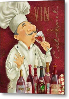 Wine Chef I Metal Print by Shari Warren